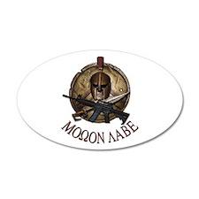 Molon Labe Spartan w Carbine 3 Wall Decal