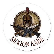 Molon Labe Spartan w Carbine 3 Round Car Magnet