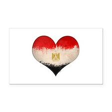 Egyptian Flag Heart Rectangle Car Magnet