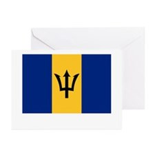 Barbados Flag Picture Greeting Cards (Pk of 10