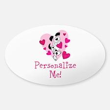 Valentine Puppy Sticker (Oval)