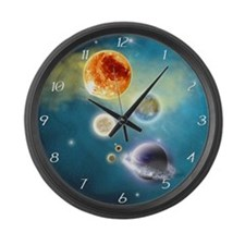 New Solar System Large Wall Clock
