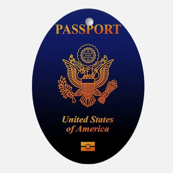 PASSPORT(USA) Ornament (Oval)