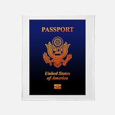 PASSPORT(USA) Throw Blanket