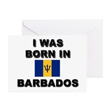 I Was Born In Barbados Greeting Cards (Package of