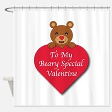 A Beary Special Valentine Shower Curtain