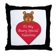 A Beary Special Valentine Throw Pillow