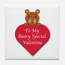 A Beary Special Valentine Tile Coaster