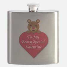 A Beary Special Valentine Flask