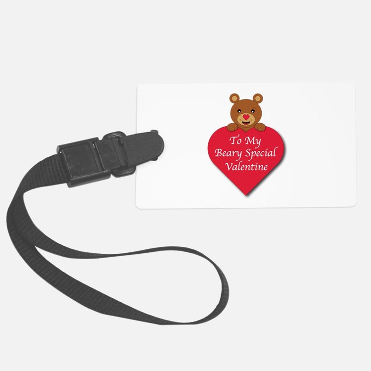 A Beary Special Valentine Luggage Tag