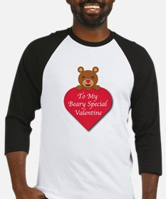 A Beary Special Valentine Baseball Jersey