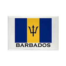 Barbados Flag Stuff Rectangle Magnet