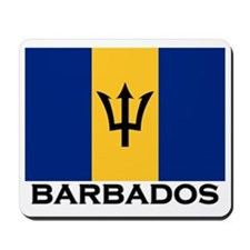 Barbados Flag Stuff Mousepad