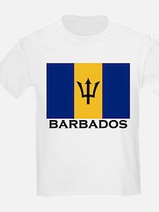 Barbados Flag Stuff Kids T-Shirt