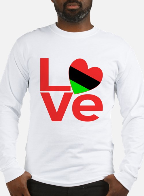 African American Love Long Sleeve T-Shirt