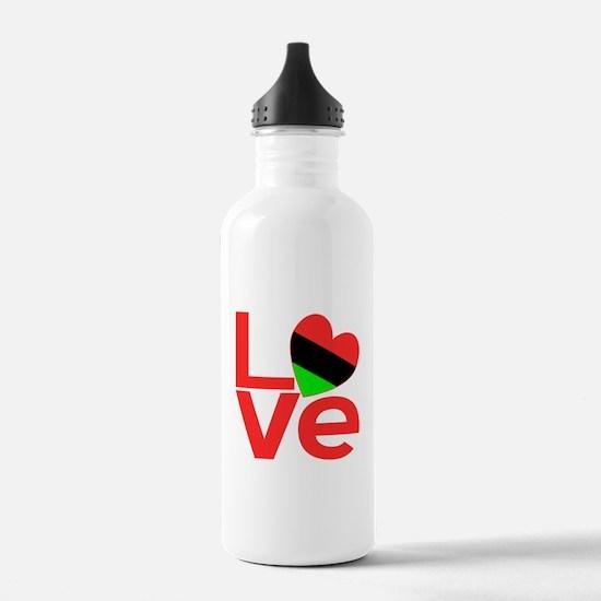 African American Love Water Bottle