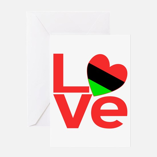 African American Love Greeting Card