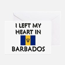 I Left My Heart In Barbados Greeting Cards (Packag