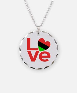 African American LOVE Necklace