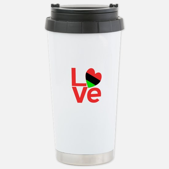 African American Love Stainless Steel Travel Mug