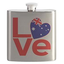 Red Australian LOVE Flask