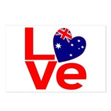 Red Australian LOVE Postcards (Package of 8)