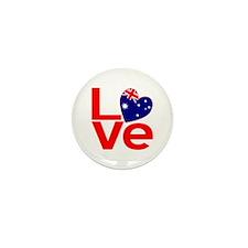 Red Australian LOVE Mini Button (10 pack)