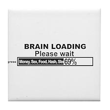 Brain Loading Tile Coaster