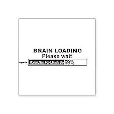 """Brain Loading Square Sticker 3"""" x 3"""""""