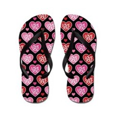 Valentines Day Love You Flip Flops