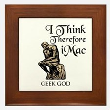 The Geek God's Framed Tile