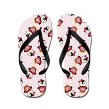 Funny Love You Penguin Valentines Flip Flops