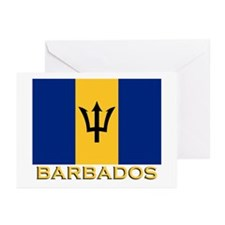 Barbados Flag Gear Greeting Cards (Pk of 10)