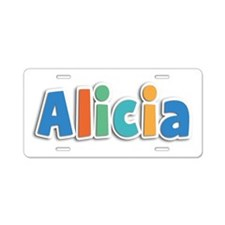 Alicia Spring11B Aluminum License Plate