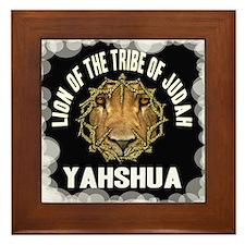 Yahshua Lion Framed Tile