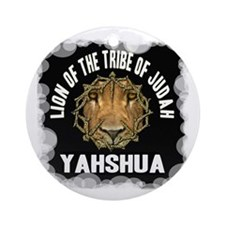 Yahshua Lion Ornament (Round)
