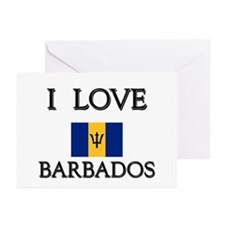 I Love Barbados Greeting Cards (Pk of 10)