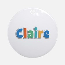 Claire Spring11B Round Ornament