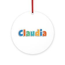 Claudia Spring11B Round Ornament