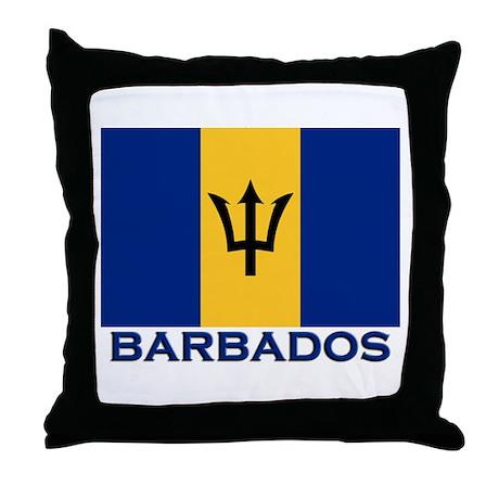 Barbados Flag Merchandise Throw Pillow