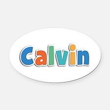 Calvin Spring11B Oval Car Magnet