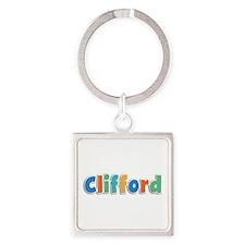 Clifford Spring11B Square Keychain