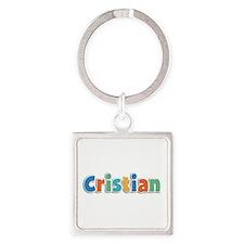Cristian Spring11B Square Keychain