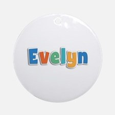Evelyn Spring11B Round Ornament