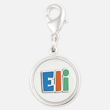 Eli Spring11B Silver Round Charm