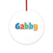 Gabby Spring11B Round Ornament
