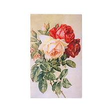 Three Roses 3'x5' Area Rug
