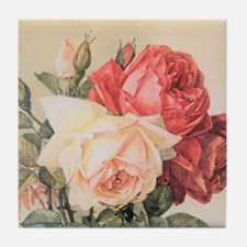 Three Roses Tile Coaster