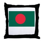 Bangladesh Flag Picture Throw Pillow