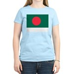 Bangladesh Flag Picture Women's Pink T-Shirt